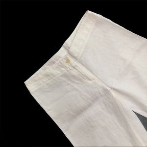 UNITED COLORS OF BENETTON white linen pants